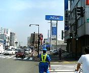 低い位置に見えるのが札幌ドーム